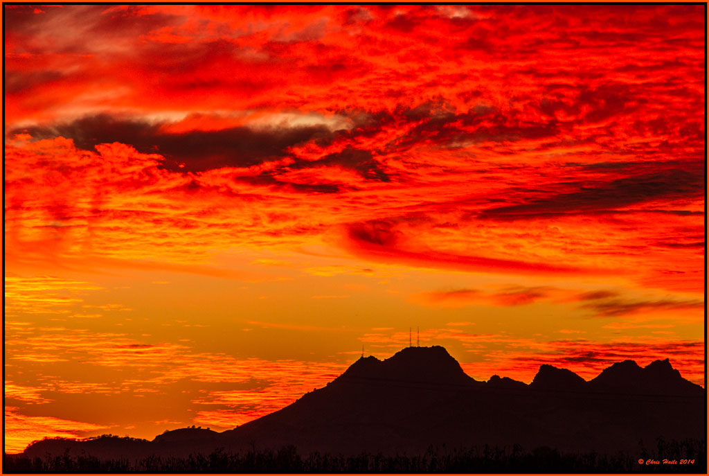 Buttes Sunset
